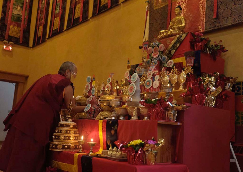 Amitabha Shrine at KTD. Photo, Stephanie Colvey.