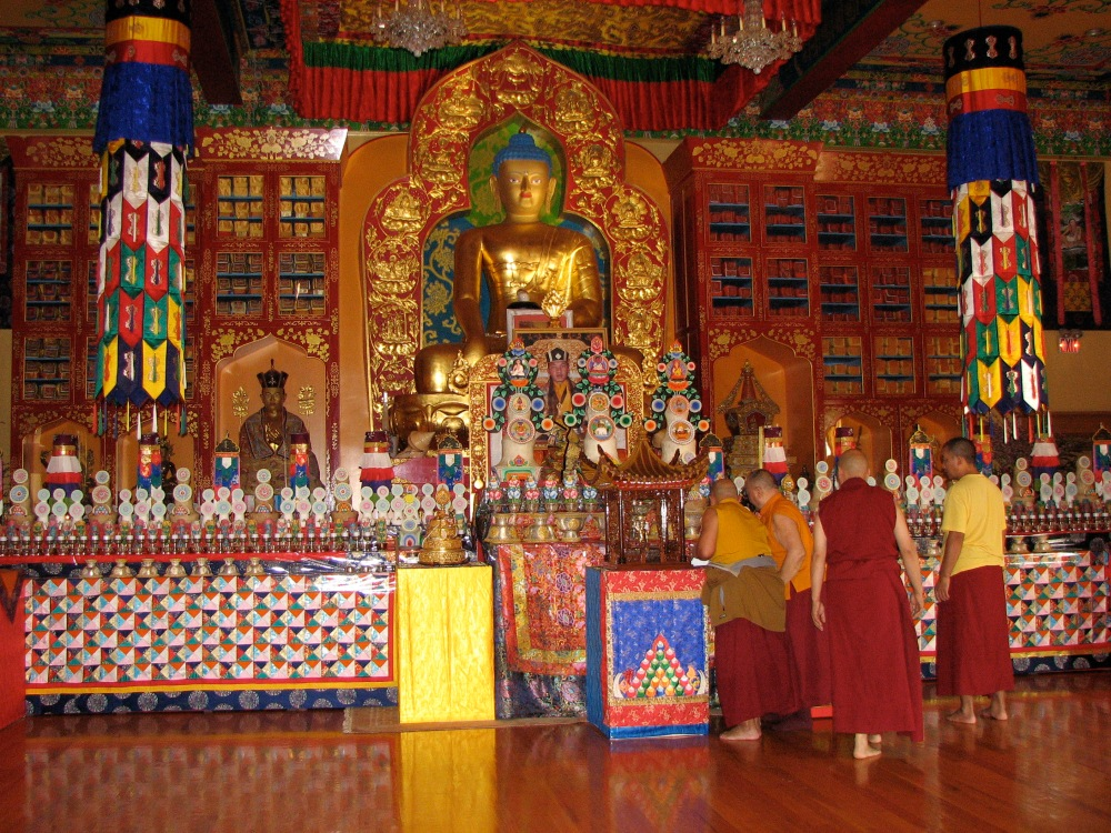 Shrine for the North American Kagyu Monlam. Photo by Lama Yeshe Wangmo.