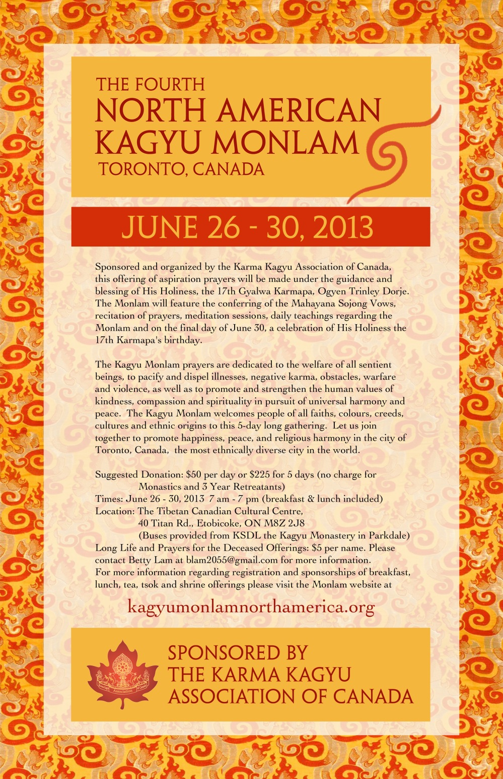 North American Kagyu Monlam June 26-30, 2013