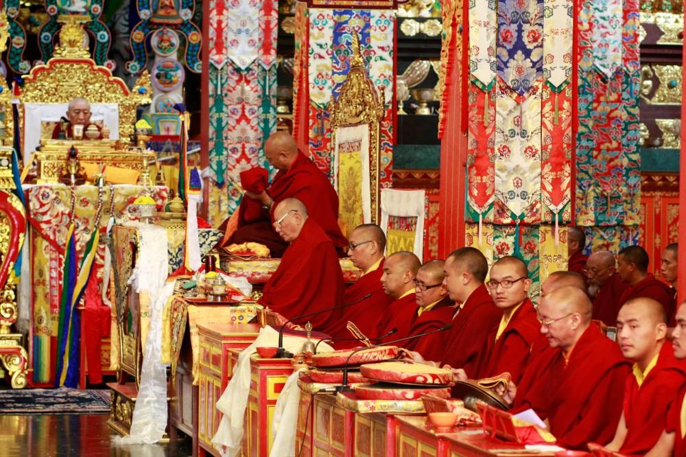 Long Life Puja for Thrangu Rinpoche's 80th birthday, Namo Buddha, Nepal, November, 2012. Photo by Karma Jangchup