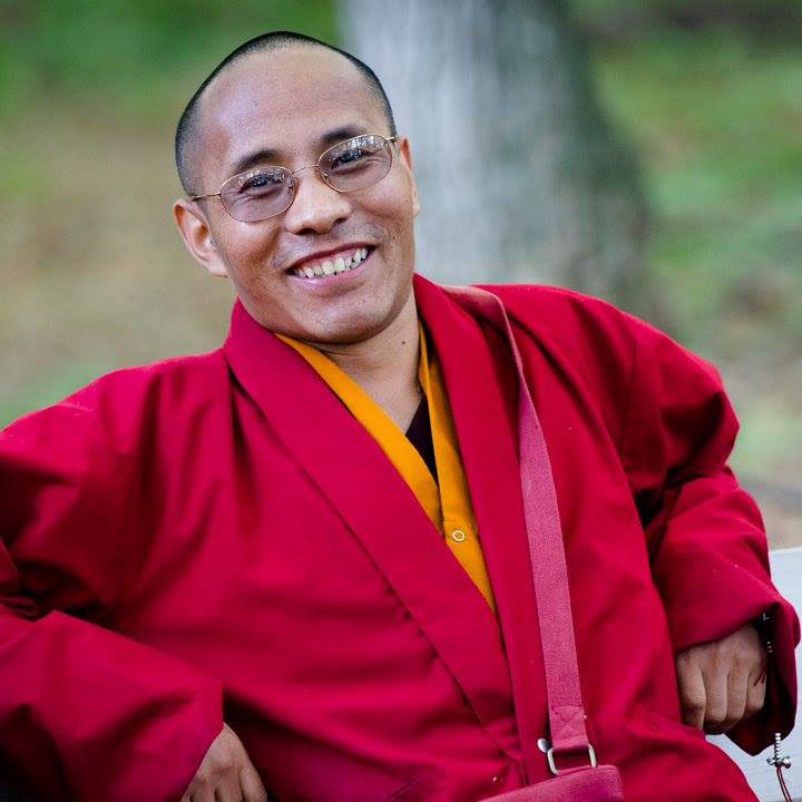 Photo of Lama Karma at one of the Harvest Gatherings.