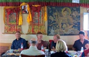 Photo of Karmapa in restaurant at Gyantse