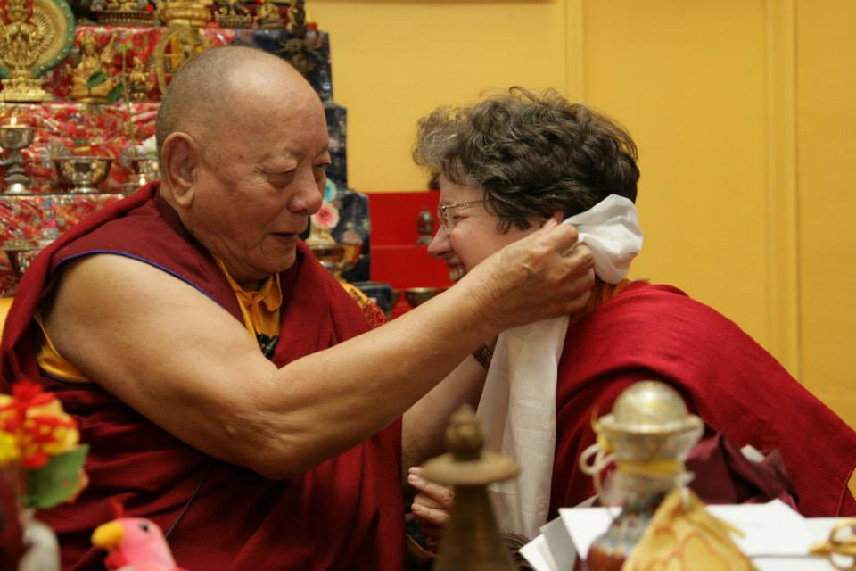 Khenpo Karthar Rinpoche and Lama Kathy Wesley; photo by Tanya Bissig-Schroeder