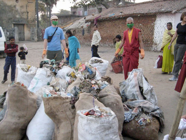 international clean up bodhgaya 2010