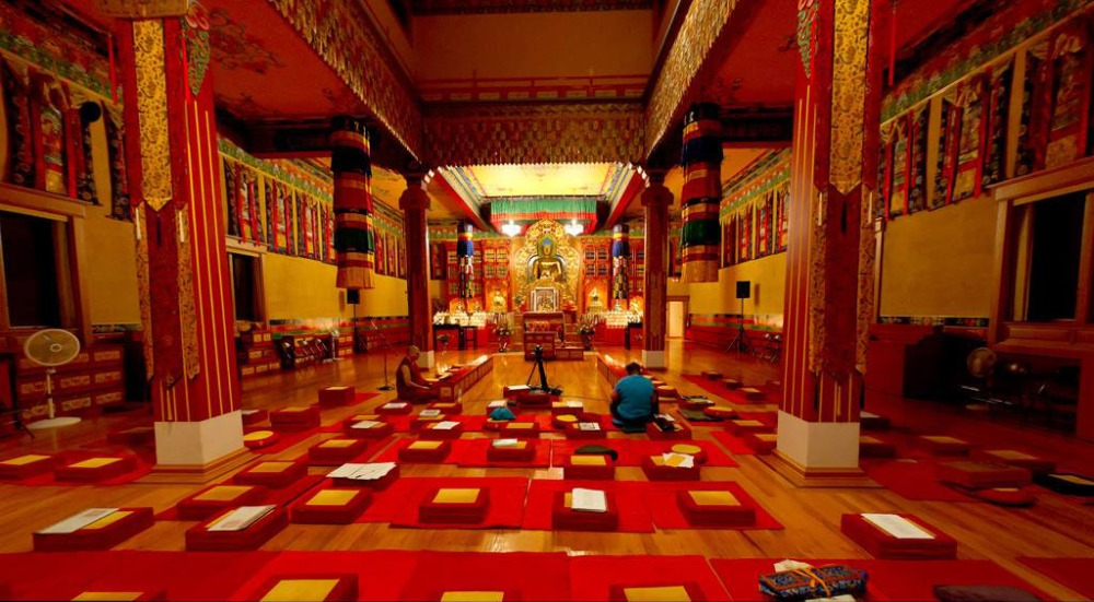 Photo taken by me of our main shrine room at KTD Monastery. None of this was here when I first travelled there and building such a magnificent place was not easy.