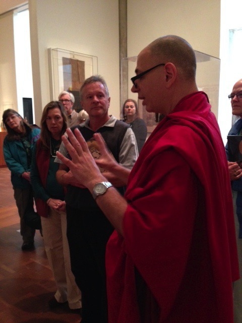 Lama Zopa clarifies a point about Avalokiteshvara's significance in the galleries.
