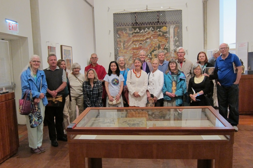 Members of Albany and Hartford KTCs, plus fellow travelers, come for Dharma Day in the galleries!