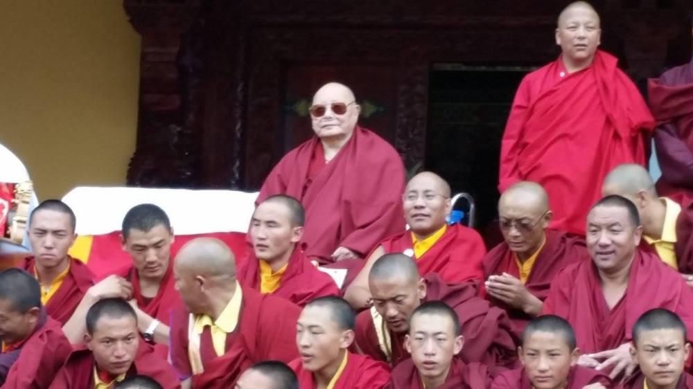 Khenpo Karthar Rinpoche and Lama Karma Drodhul.