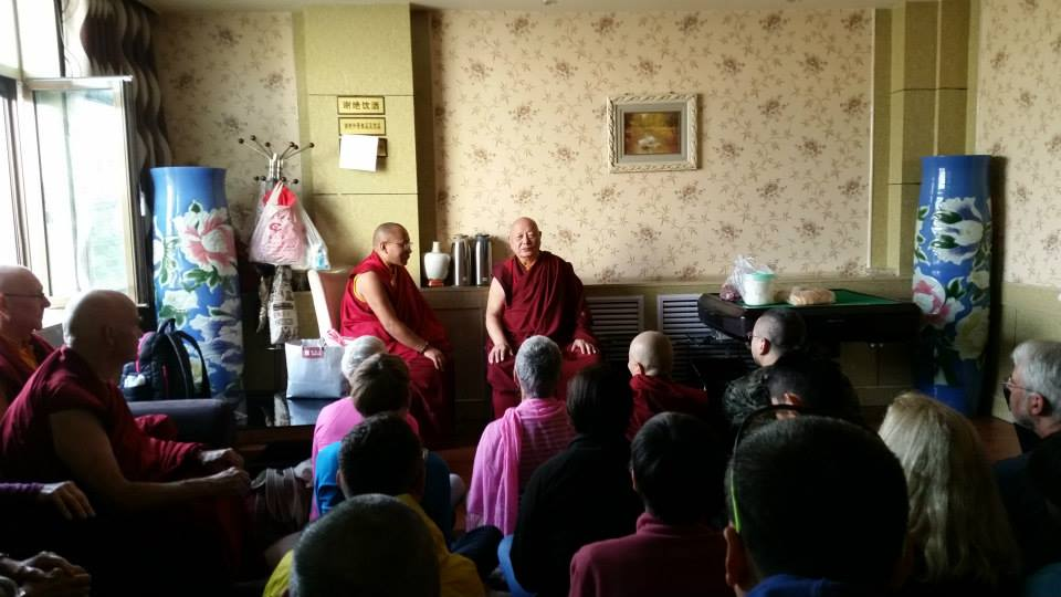 Before we embarked on our pilgrimage we met with Khenpo Karthar Rinpoche who gave us his blessing.