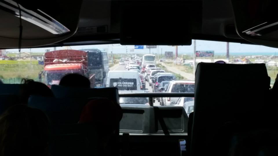 The traffic was astounding. Best not to sit in the front of the bus if you are afraid of dying in a head on collision.