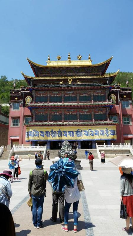 Kumbum Monastery was founded in 1583 by the third Dalai Lama. It is home to approximately 400 monks.