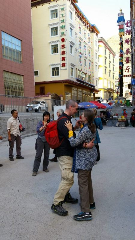 A moment of dance in the streets of Yushu