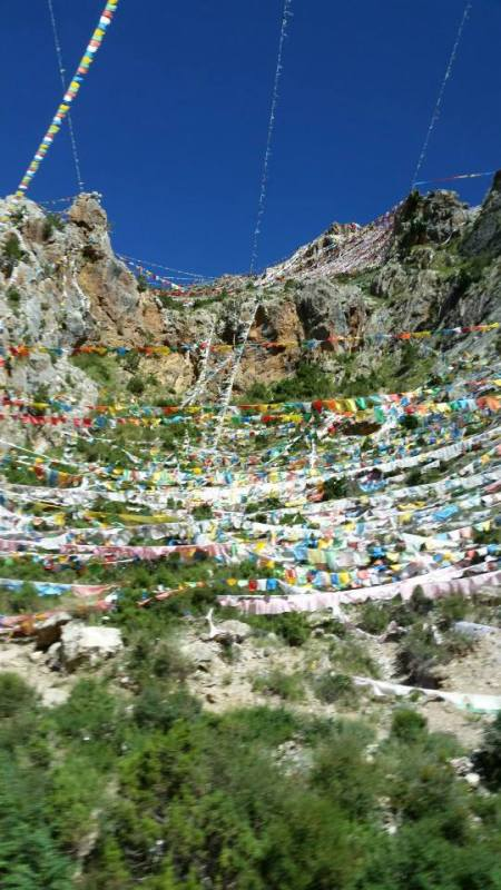Prayer flags near Princess Wangchen Temple