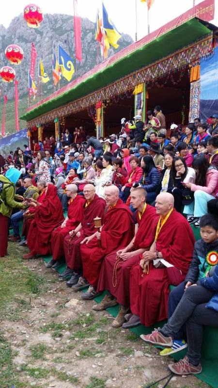 Our monks and lamas getting the VIP treatment.
