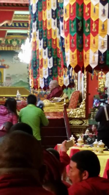 Thrangu Rinpoche during the Shedra consecration ceremony.