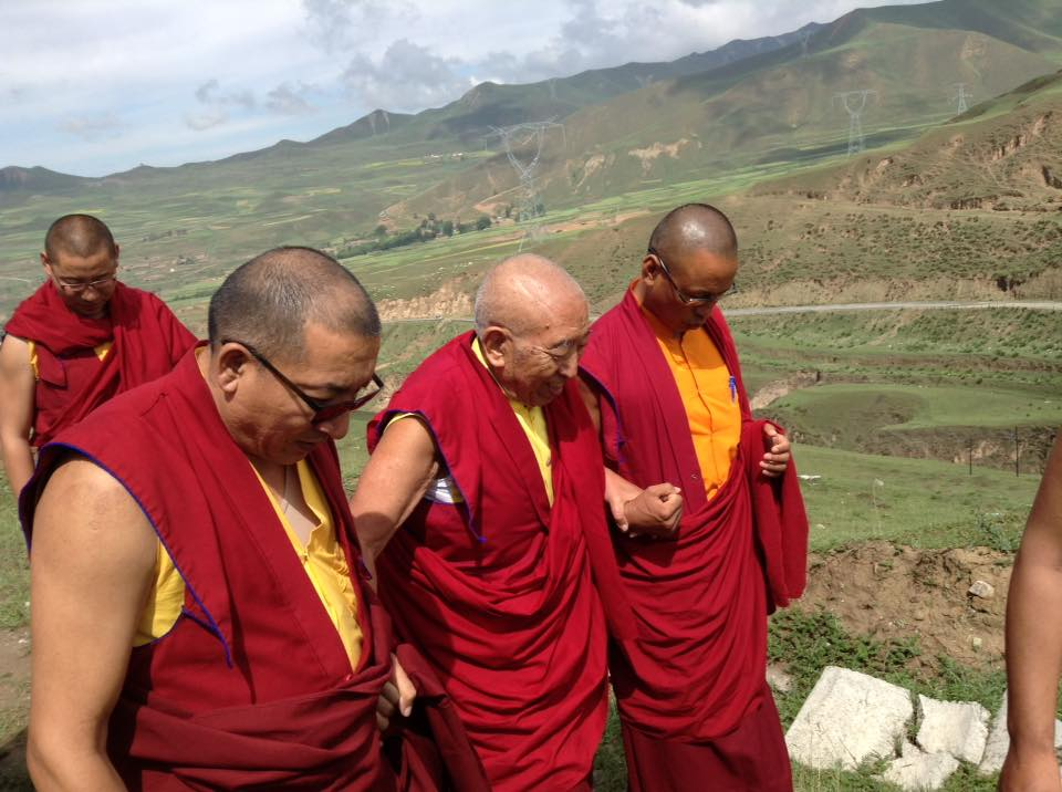 Lama Dawa and Lama Tashi Tsewang constantly supporting Rinpoche's work