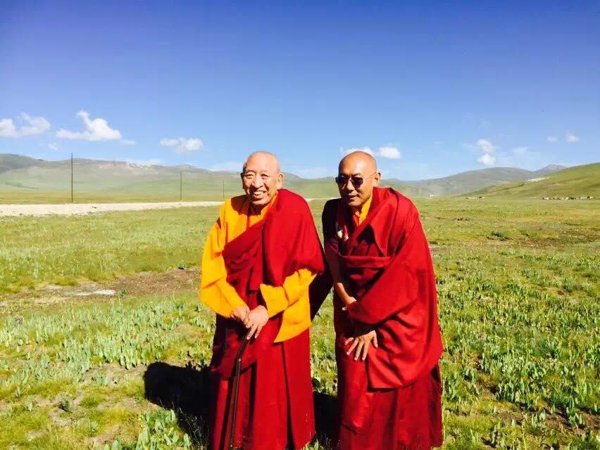 Khenchen Thrangu Rinpoche and Lodro Nyima Rinpoche, Kham.