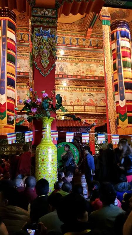 For three days the Tibetans brought offerings, and stood for hours waiting their turn to offer them.