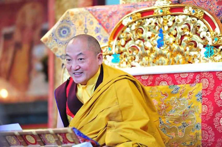 His Eminence the 12th Goshir Gyaltsab Rinpoche bestowing 17 precious empowerments from 5-21 October, 2015 at Rumtek Monastery (International Seat of His Holiness the 17th Gyalwang Karmapa, Ogyen Trinley Dorje). Gangtok, Sikkim, India, 10 October, 2015 Photo, Karma Doljiang